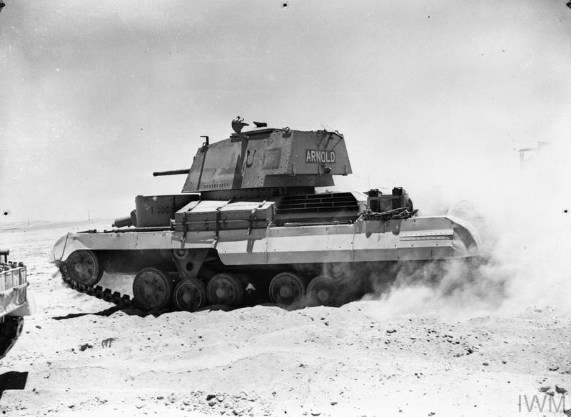 Cruiser tank Mk I (A9), 'Arnold', of 1st RTR (Royal Tank Regiment), Abbasia, Egypt, 30 May 1940.