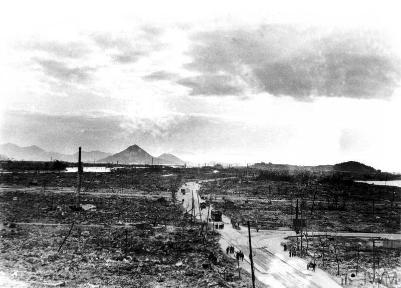 Photograph depicting the aftermath of the Atomic Bomb in Hiroshima.