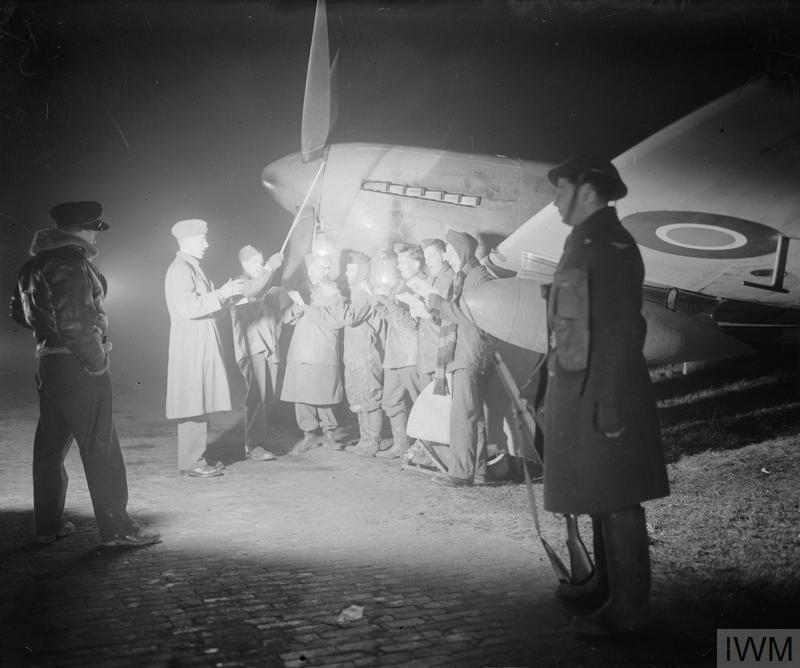 CHRISTMAS FOR MEN OF THE ROYAL AIR FORCE SECOND TACTICAL AIR FORCE, VOLKEL, HOLLAND, 1944.