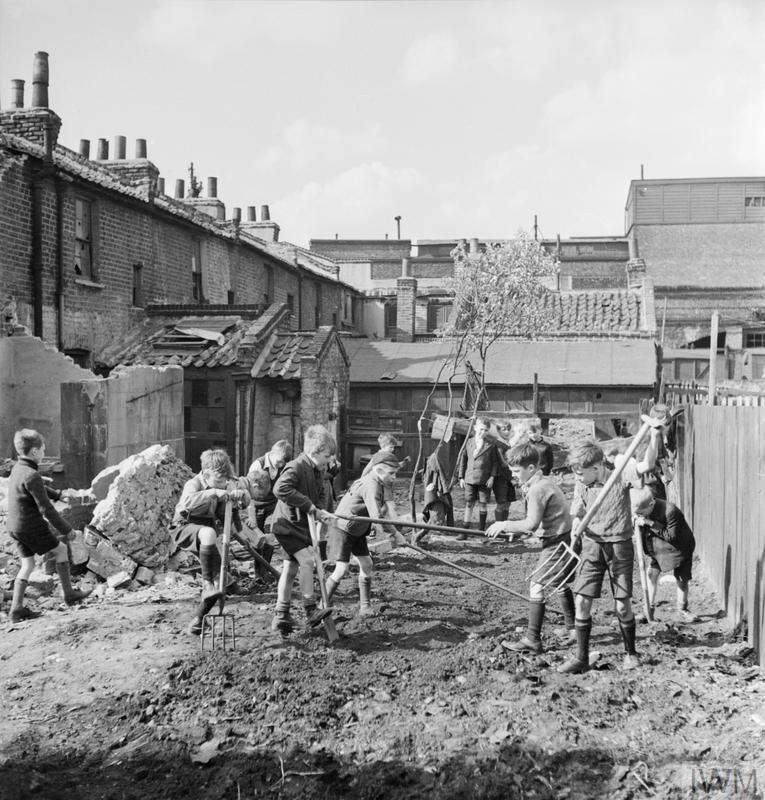 Britain S Youth Prepares Boys Create Allotments On Bomb