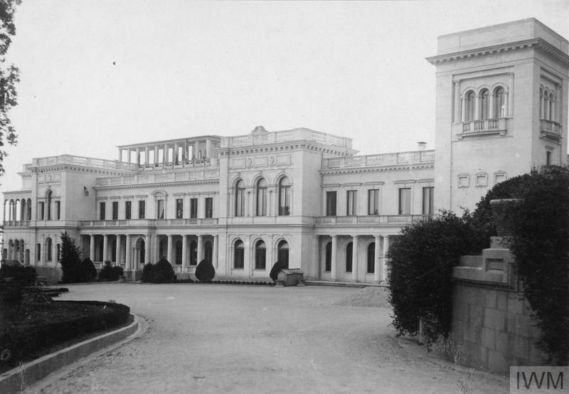 Palace of Tsar Nicholas II of Russia at Livadia, Crimea, May 1918.