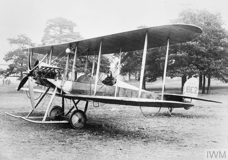A B.E.2. biplane on the ground