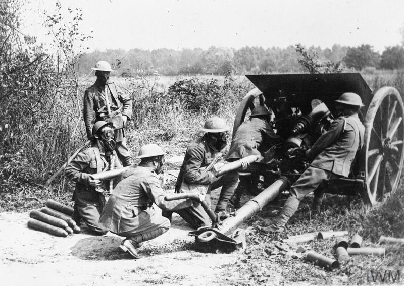 Image result for ww1 british 18 pounder gun crew