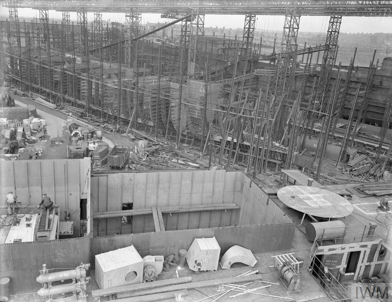SHIPBUILDING. AUGUST 1941, AT VARIOUS SHIPYARDS.
