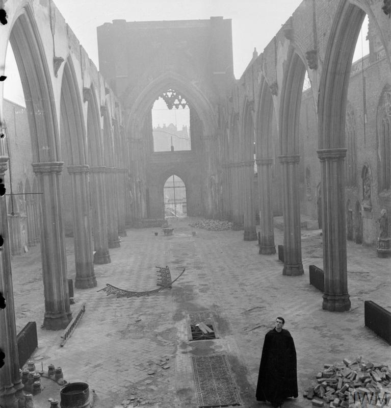 A Church Rises From The Ashes Bomb Damage To St George S