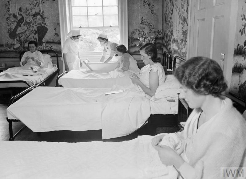 MANSION BECOMES MATERNITY HOME: LIFE AT BROCKET HALL, WELWYN, HERTFORDSHIRE, 1942