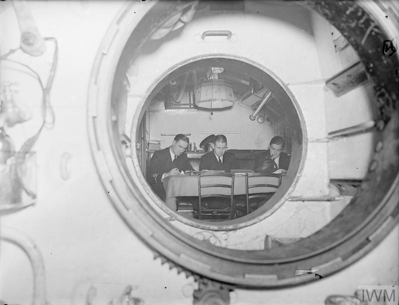 ON BOARD HM SUBMARINE SNAPPER. SEPTEMBER 1940.