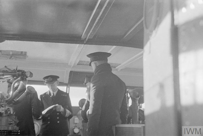 ON BOARD HMS KING GEORGE V ON HER WAY TO AMERICA WITH LORD HALIFAX IN JANUARY 1941.
