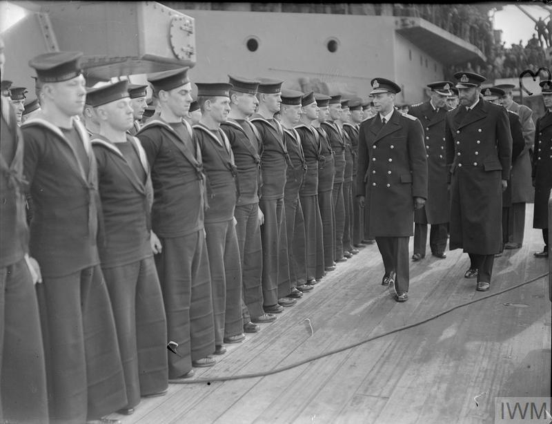 THE VISIT OF HIS MAJESTY THE KING TO ROSYTH. 5 MARCH 1941.