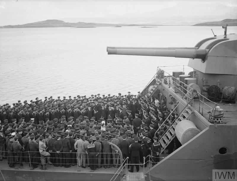 ON BOARD HMS SUFFOLK ON ARCTIC PATROL. JUNE 1941, ON BOARD THE CRUISER HMS  SUFFOLK WHICH PLAYED A CRUCIAL ROLE IN THE SHADOWING OF THE BISMARCK ALONG  WITH HMS NORFOLK.   Imperial