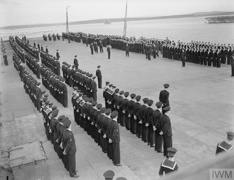 HIS MAJESTY THE KING VISITED THE FLEET IN NORTHERN WATERS. 1941, ON BOARD VARIOUS SHIPS OF THE HOME FLEET.