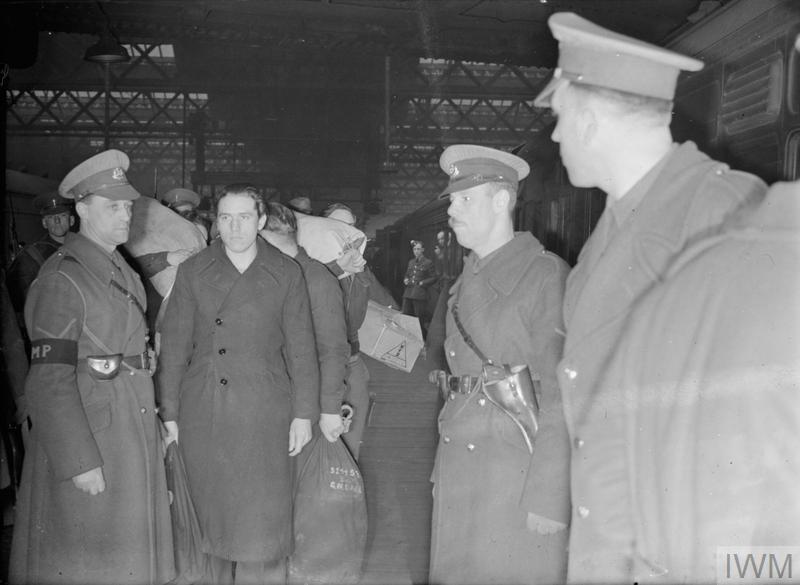 BRITISH RAILWAYS AT WAR - PRISONERS OF WAR: TRANSPORT AND TRAVEL IN WARTIME, UK, 1944