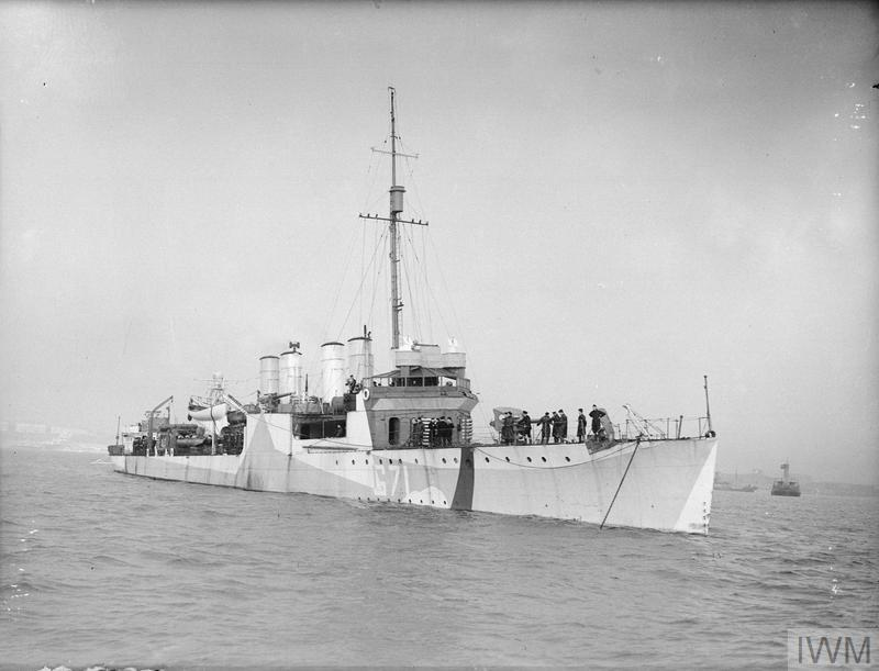 HMS READING, BRITISH TOWN CLASS DESTROYER. JANUARY 1941, THE EX-USA DESTROYER (USS BAILEY).
