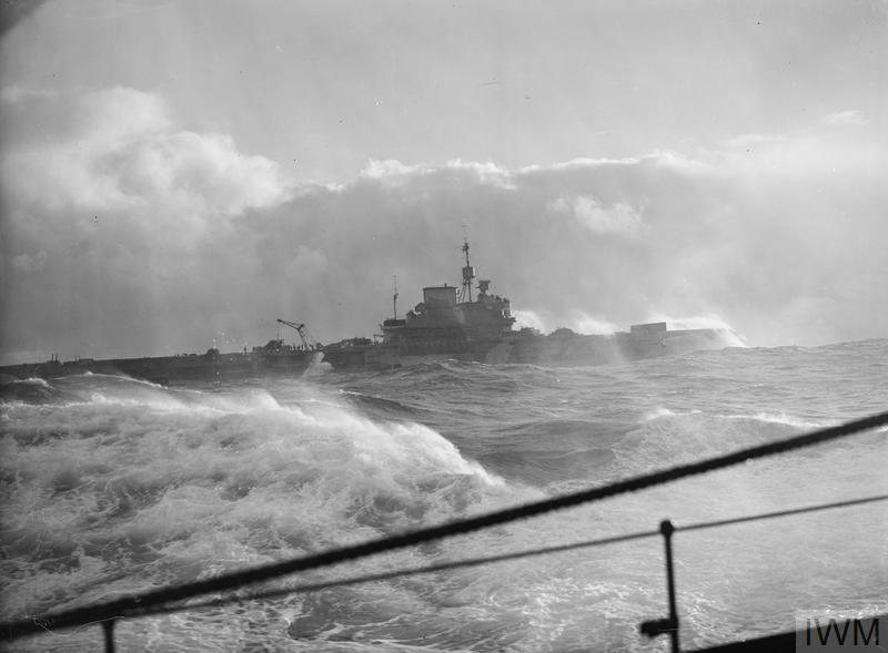 PREPARATIONS FOR NORWEGIAN OPERATIONS. OCTOBER 1941, ON BOARD THE DESTROYER HMS BEDOUIN. HMS VICTORIOUS AND HMS KING GEORGE V ALONG WITH ESCORTING DESTROYERS DURING SEVERAL DAYS OF PREPARATION FOR NORWEGIAN OPERATIONS, AND DURING THE OPERATION.