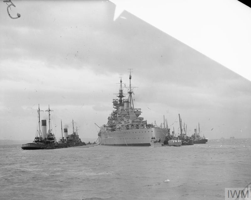 HMS DUKE OF YORK READIES FOR SEA TRIALS. 24 OCTOBER 1941, ROSYTH.