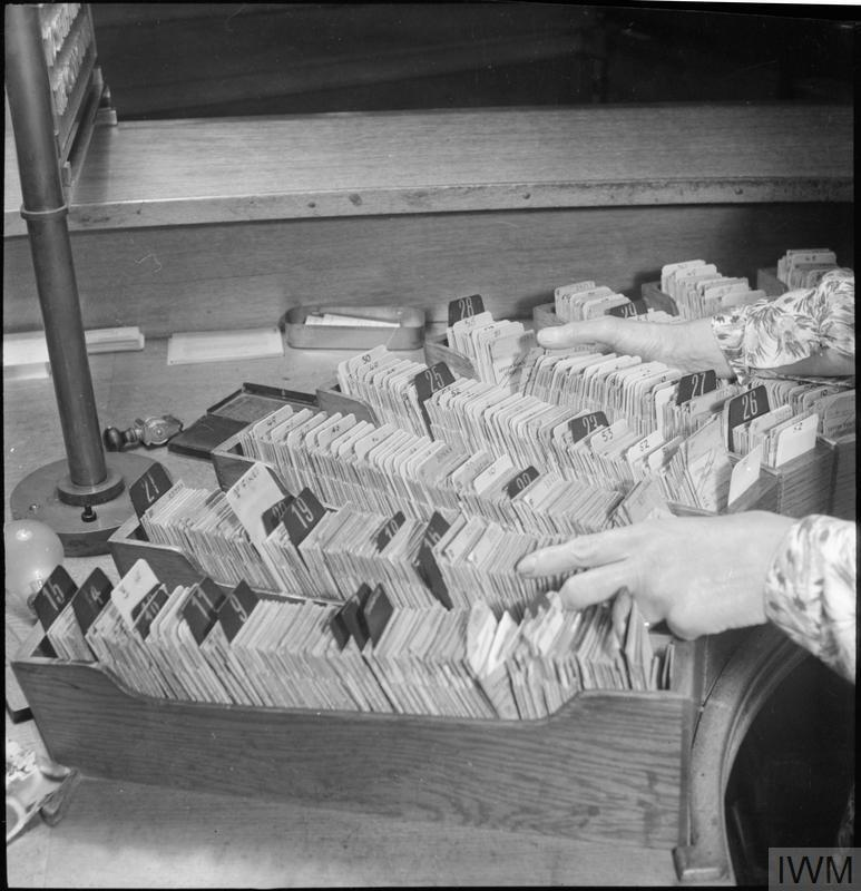 A view of the card index kept at Leytonstone Public Library