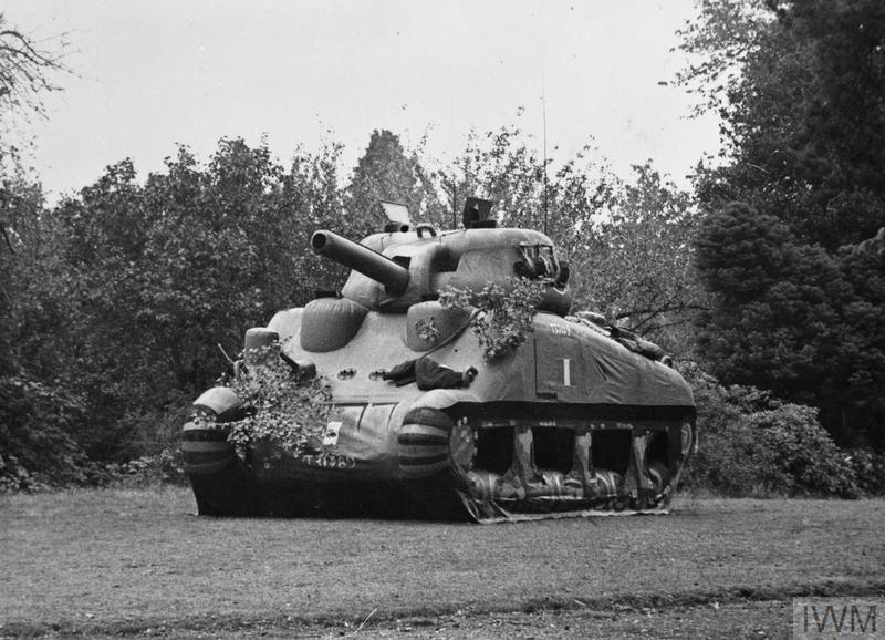 Inflatable Sherman tank.