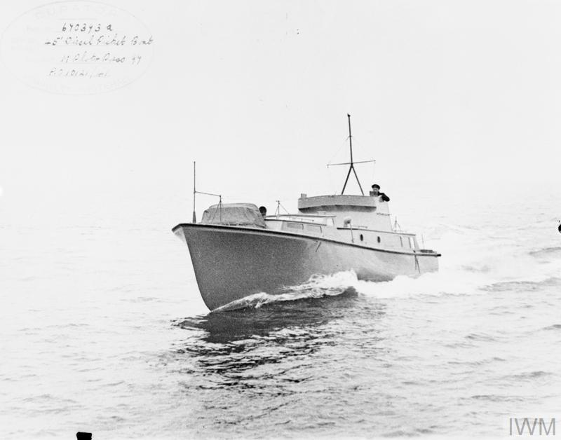 45 FOOT DIESEL PICKET BOAT, AT SEA.