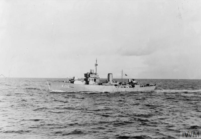 Hms Tamarisk British Flower Class Corvette At Sea