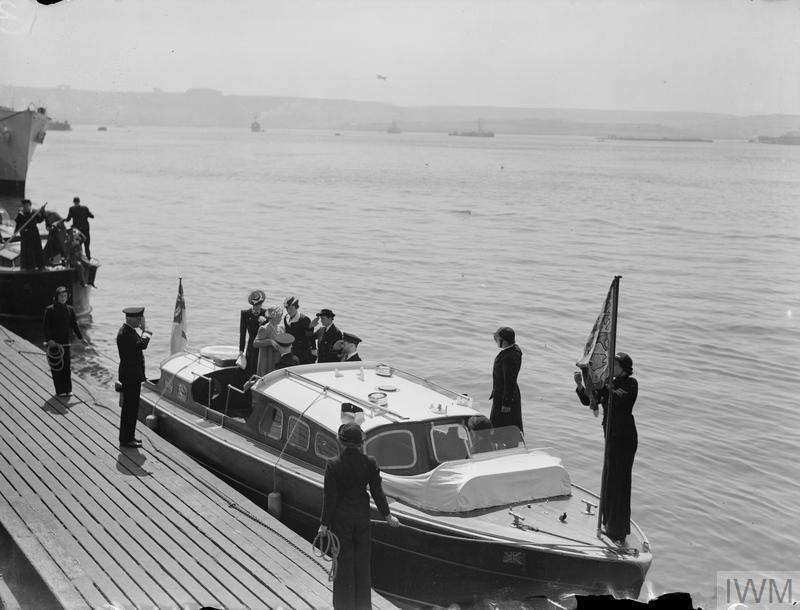 ROYAL VISIT TO NAVAL ESTABLISHMENTS AT DEVONPORT. 7 MAY 1942. THE KING AND QUEEN PAID A VISIT OF INSPECTION TO NAVAL ESTABLISHMENTS, AT DEVONPORT.