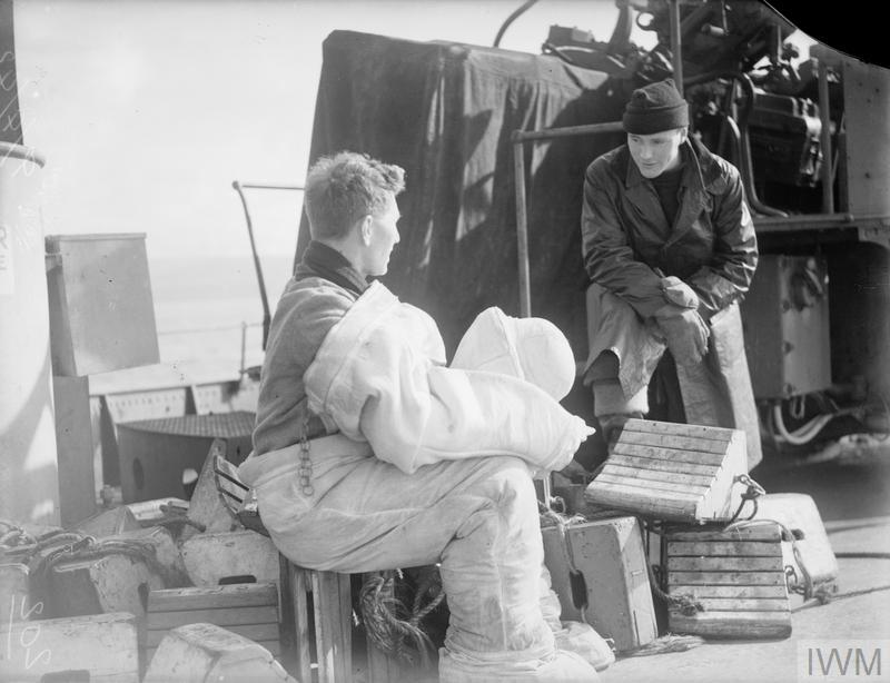 ON BOARD HMS VICTORIOUS. 29 MARCH TO 9 APRIL 1942, ON BOARD THE AIRCRAFT CARRIER IN HARBOUR AT SCAPA AND DURING FLYING EXERCISES OFF HOY.