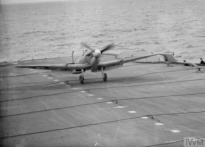 THE SUPERMARINE SEAFIRE: BRITISH NAVY'S NEW FIGHTER AIRCRAFT. 5 TO 12 MAY 1942, ON BOARD HMS VICTORIOUS. FLYING TRIALS FOR THE SUPERMARINE SEAFIRE.