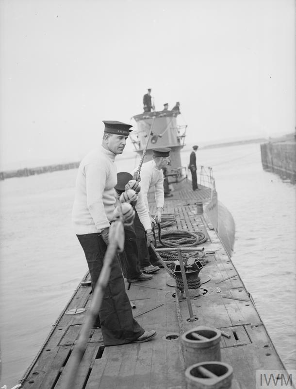 HM SUBMARINE GRAPH, EX-U-BOAT (U570). 19 TO 21 FEBRUARY 1942, IN ...