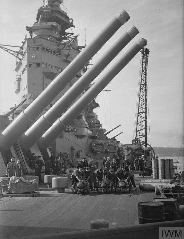 ON BOARD THE BATTLESHIP HMS NELSON. JULY 1941.