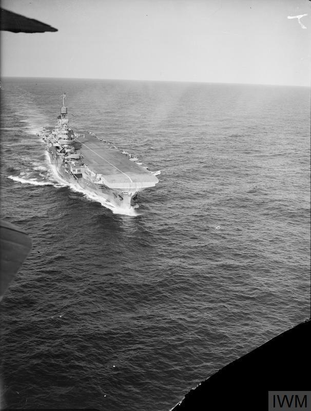 HMS INDOMITABLE. 16 JULY 1942.