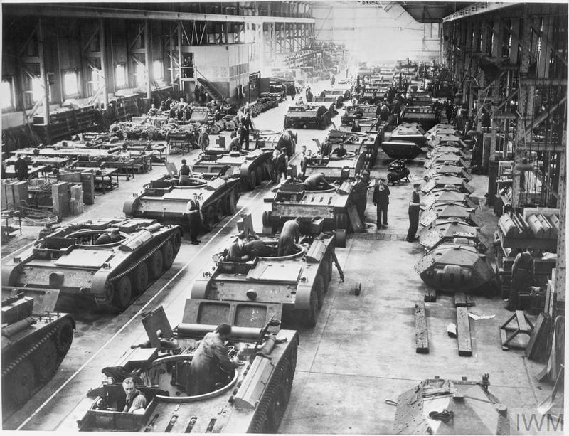 THE PRODUCTION OF COVENANTER TANKS AT A FACTORY IN THE MIDLANDS, ENGLAND, UK, 1941