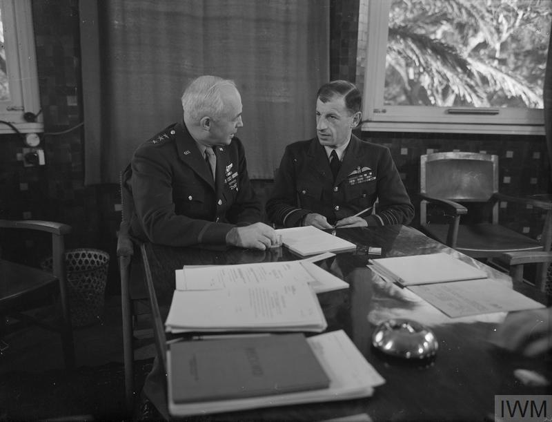 © IWM (A 14136) Lt General Arnold, Commanding the US Army AIR FORCE, and Air Chief Marshal Sir Charles Portal.