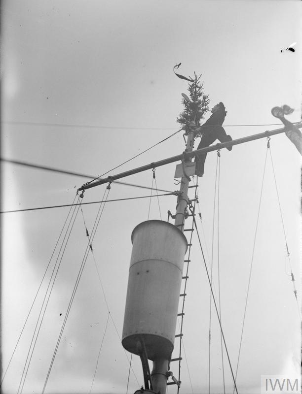 A NORWEGIAN CORVETTE KEEPS AN OLD CHRISTMAS CUSTOM  24 DECEMBER 1942
