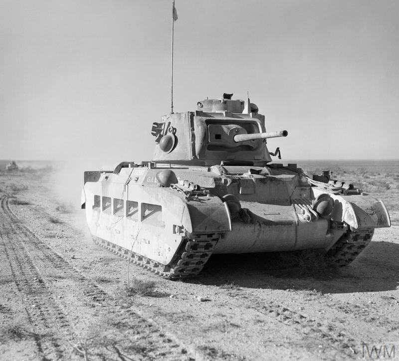 A Matilda tank of the 7th Royal Tank Regiment in the Western Desert, 19 December 1940.