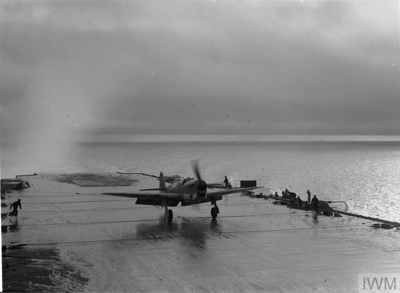 THE FIREFLY - FLEET AIR ARM FIGHTER AIRCRAFT. 8 AND 9 FEBRUARY 1943, ON THE CLYDE, ON BOARD HMS ILLUSTRIOUS, THE FAIREY FIREFLY THE ROYAL NAVY'S LATEST AIRCRAFT, IS A TWO SEATER LONG RANGE FIGHTER, DESIGNED FOR USE FROM AIRCRAFT CARRIERS AS A HEAVILY ARMED FIGHTER RECONNAISSANCE AIRCRAFT.