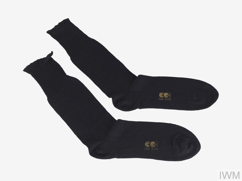 The Utility clothing mark 'CC41' on a pair of men's socks.
