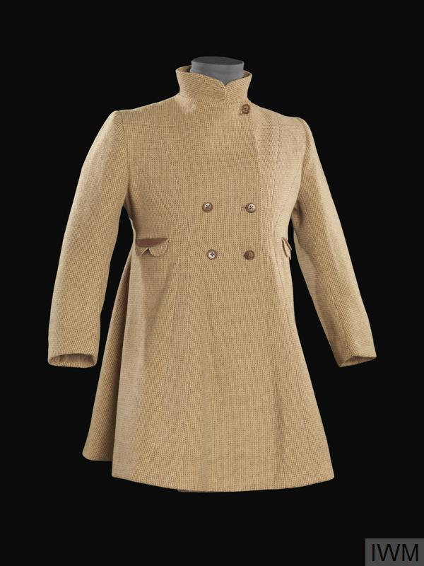 Utility Coat, brown tweed:  girl's, civilian