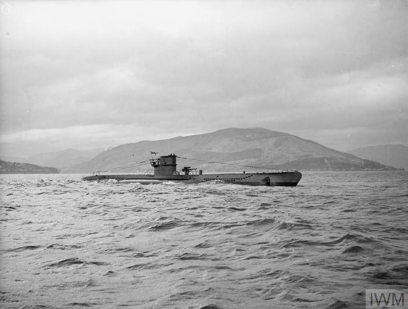 THE SUBMARINE HM GRAPH - EX-U-BOAT 570. 20 APRIL 1943, HOLY LOCH, THE GERMAN SUBMARINE U 570 WHICH WAS CAPTURED AND RENAMED HMS GRAPH. IN 1941 A HUDSON AIRCRAFT FORCED THE U-BOAT TO SURRENDER ON THE SURFACE, UNITS OF THE ROYAL NAVY ARRIVED ON THE SCENE, AND TOOK CHARGE OF THE SURRENDERED U-BOAT, TAKING THE CREW PRISONER. ON ARRIVAL IN A BRITISH PORT, THE SUBMARINE WAS CLOSELY EXAMINED, AND PHOTOGRAPHS OF ITS INTERIOR WERE TAKEN.