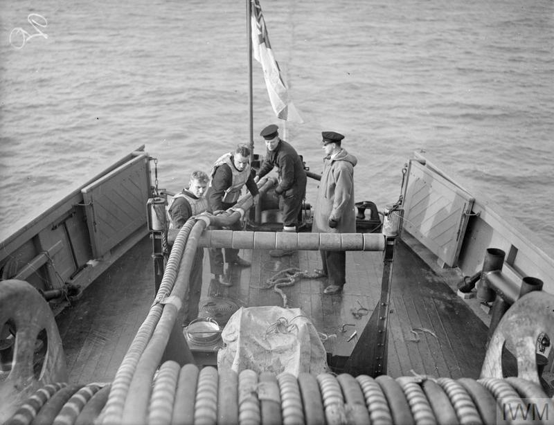 LIFE IN A MOTOR MINESWEEPER ON THE NORTH SEA. MARCH 1943, ON BOARD HM MINESWEEPER 1023 DURING SWEEPING OPERATIONS IN THE NORTH SEA.