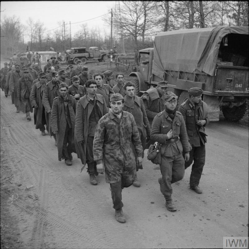German POWs captured north of Anzio, 31 January 1944.