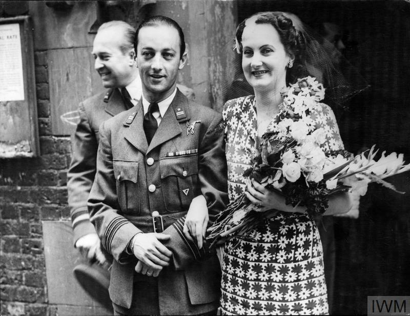 Wing Commander Tadeusz Sawicz of the 3rd Polish Fighter Wing marrying Ms Diana Hughes