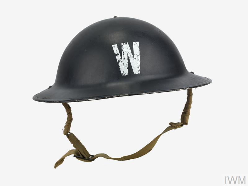 Air raid warden's steel helmet