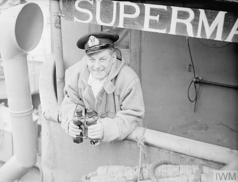 CAPTAIN OF THE RESCUE TUG SUPERMAN  25 AUGUST 1943, HARWICH