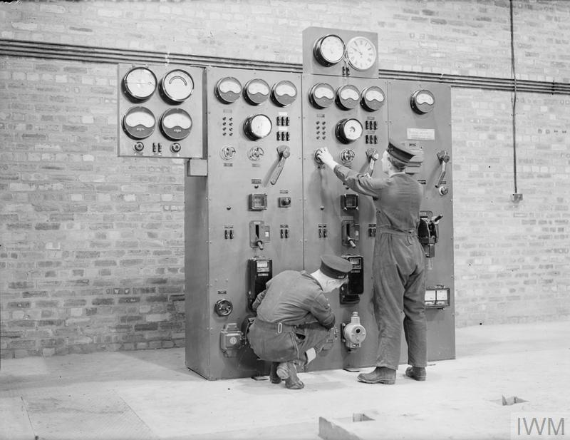 POWER FOR THE FLEET AIR ARM. 29 OCTOBER 1943, FEAIRN ROYAL NAVAL AIR STATION. THE SWITCHBOARD IN THE POWERHOUSE AT A ROYAL NAVAL AIR STATION.