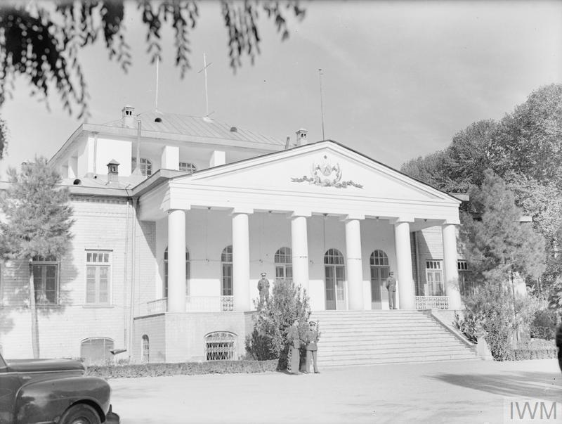 © IWM A20752 Soviet Embassy, Tehran; Scene of the Churchill, Stalin Roosevelt Conference. 30 November 1943