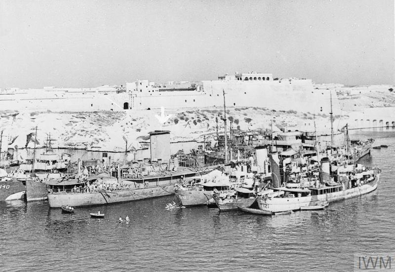FAMOUS MALTA TANKER IN GRAND HARBOUR  OCTOBER 1943, THE TANKER OHIO