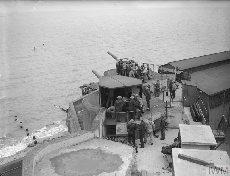 Fixed defences at Felixstowe.