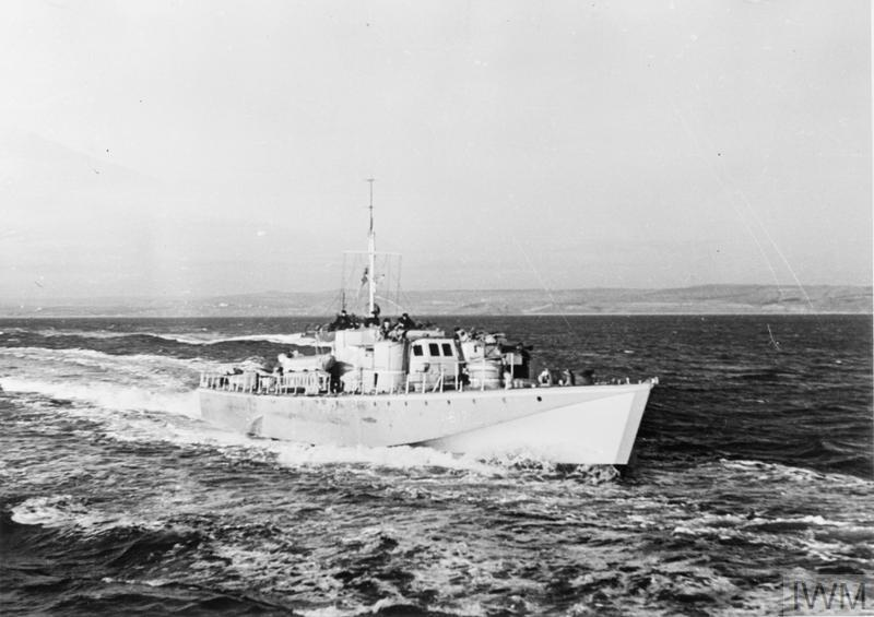 BRITISH LIGHT COASTAL FORCES CRAFT. SEPTEMBER 1943, AT SEA FROM ...