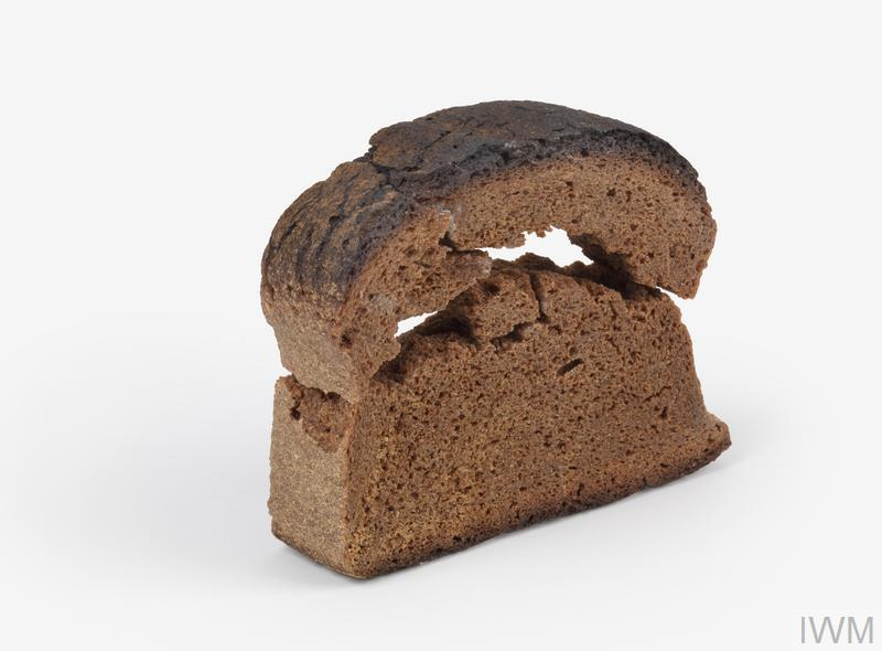 Photograph of K-Brot bread, preserved as a souvenir by a liberated British prisoner of war.