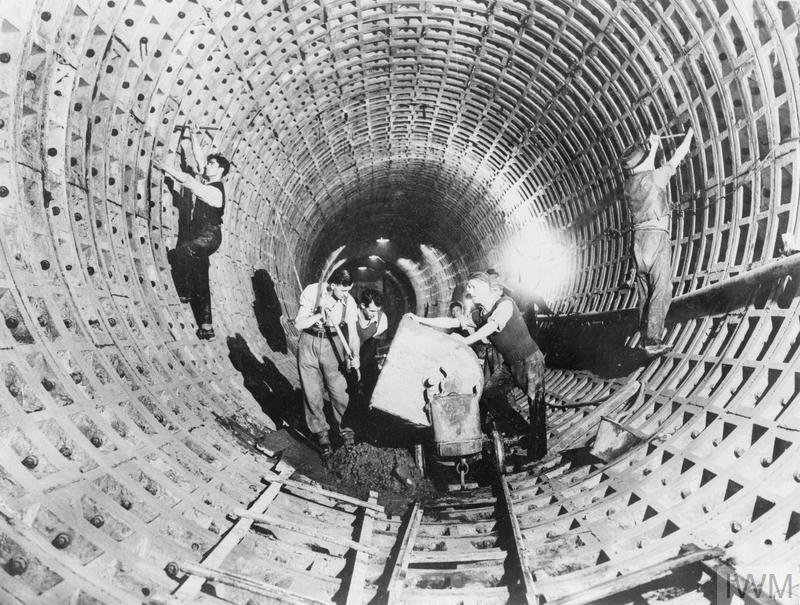 NEW DEEP UNDERGROUND AIR RAID SHELTERS IN LONDON, 1941