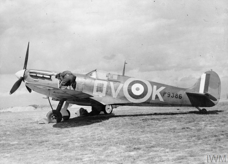 Spitfire Mk Ia P9386, the aircraft usually flown by Brian Lane.